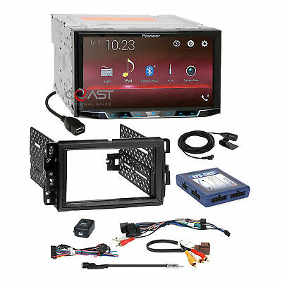 Pioneer 2018 USB BT Camera Input Stereo Dash Kit OnStar Bose SWC Harness for GM