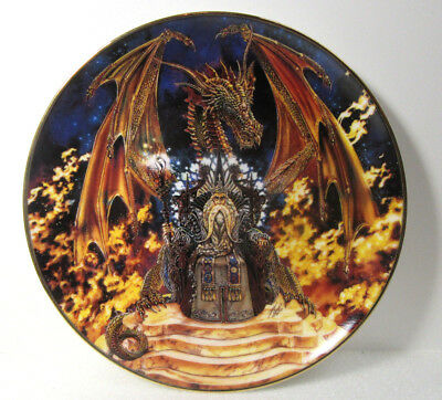Franklin Mint Royal Doulton DRAGON FIRE Plate Miles Pinkney Limited Edition