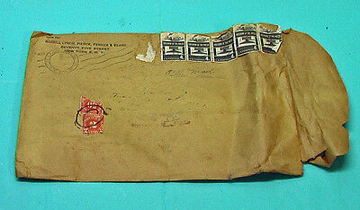 MERRILL LYNCH Pierce Fenner Beane Stock Market WALL STREET Manila ENVELOPE 1959