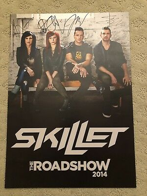 Skillet The Roadshow 2014 Autograph Poster