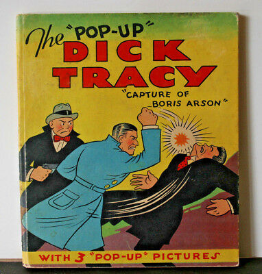 Pop-Up Dick Tracy, The Capture of Boris Arson,  by Chester Gould 1935