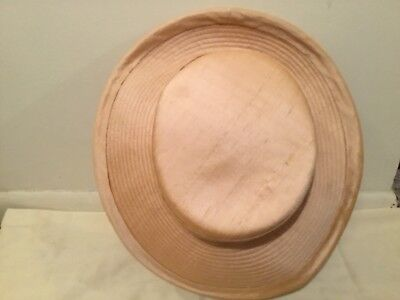 Herbert Johnson Vintage Peach Silk Brimmed Hat With Back Bow 1990 s 34aaa97c6843