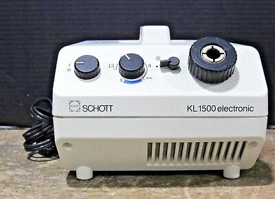 Schott KL 1500 Electronic Fiber Optic Light Source Tested & Working Missing Bulb