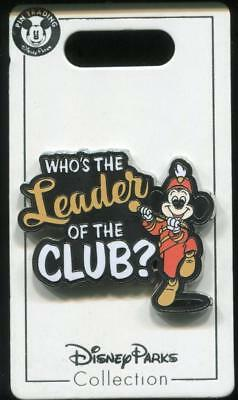 Who's the Leader of the Club Mickey Mouse Disney Pin