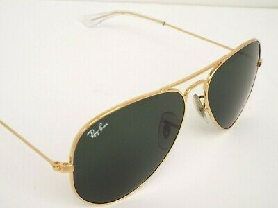 36aa9eb3165b3 Authentic Ray-Ban RB 3025 W3234 Gold Green Classic G-15 Small Sunglasses   200