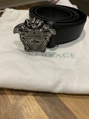 Versace Belt Gun Metal Grey Medusa Head 150 00 Picclick Uk