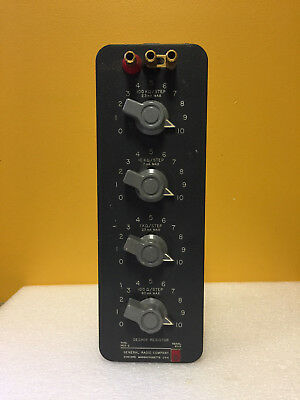 General Radio 1432-Q 1,111,000 Ohm, 4 Dial, Decade Resistor. Tested!