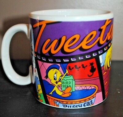 NWT Vintage 1995 Applause Looney Tunes Sylvester Tweety I tawt I saw Mug Cup