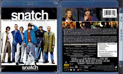 Blu-ray Guy Ritchie SNATCH Brad Pitt Benicio Del Toro Cdn OOP Region A/B/C NEW