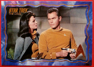 "STAR TREK TOS 50th Anniversary - ""THE CAGE"" - GOLD FOIL Chase Card #46"