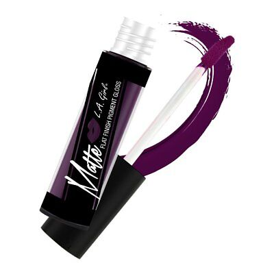Black Currant La Girl Flat Finish Pigment Gloss Matte Liquid Lipstick Red Purple