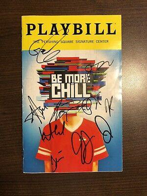 BE MORE CHILL Autographed Playbill By Full Original Off-Broadway Cast