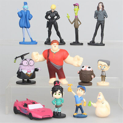 12 PCS Wreck-It Ralph Vanellope Von Schweetz Action Figure Cake Topper Gifts Toy