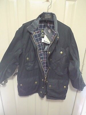 Barbour- M7 International  Waxed Cotton Jacket- Nato- New Old Stock- Rare- 46