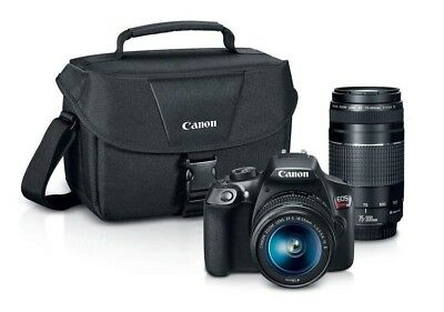 Canon EOS Rebel T6 DSLR Camera with EF-S 18-55mm IS II & EF 75-300mm III BUNDLE