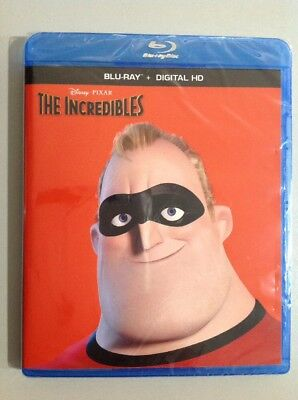 DISNEY THE INCREDIBLES ONE MOVIE ( Blu-Ray ). NEW. READ DETAILS.