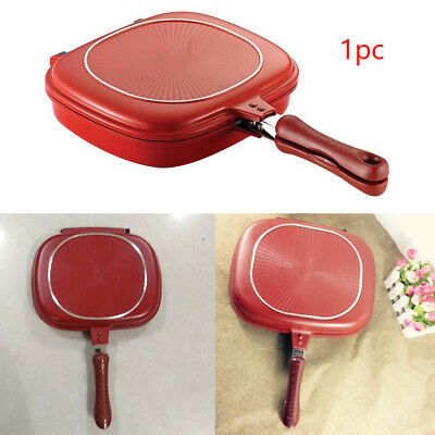 Grill Frying Pan Double Side Steak Cookeware Home Kitchen Supplies Non-Stick