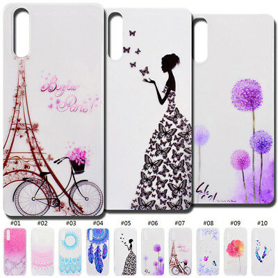 For Huawei Rubber Soft Clear Pattern TPU Skin Silicone Gel Shockproof Case Cover