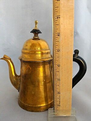 Vintage Brass Coffee Pot with Handle