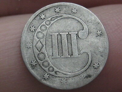 1851-1853 Three 3 Cent Silver Trime- Type 1