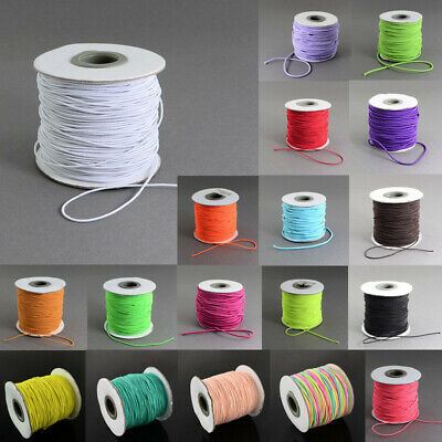 18 Color! 109Yard/Roll 1mm Round Elastic Cord Nylon Rubber String Thread Beading