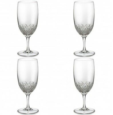 Waterford Crystal Alana Essence Iced Beverage Tea Glasses Four (4) New 151403