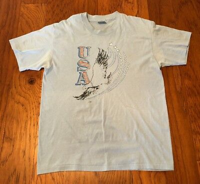Vtg Mens USA T Shirt Size Large