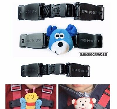 Anti Escape Chest Clip Car Seat Buggy Help Prevent Them Taking Their Arm Out DOG