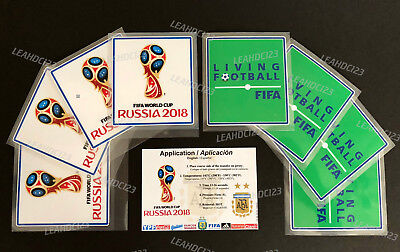 2018 WORLD CUP RUSSIA  and  LIVING FOOTBALL Arm / Sleeve,  Patch / Badge