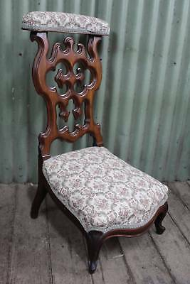 A Lovely Antique French Gothic Prayer Kneel Chair - Bedroom Chair