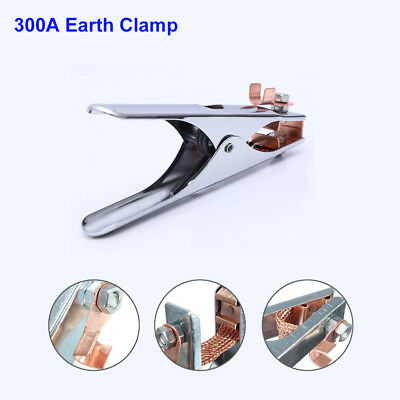 New 300A Spring Loaded Earth Clamp Copper Tig Mig for Welding Machines