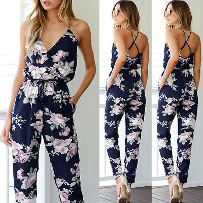 Women Clubwear Summer Playsuit Bodycon Party Jumpsuit Romper Trousers Lot USA
