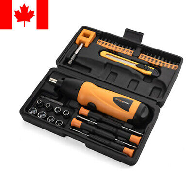 PrimeCables® 37in1 Portable Cordless Electric Screwdriver Drill 6V Battery Power