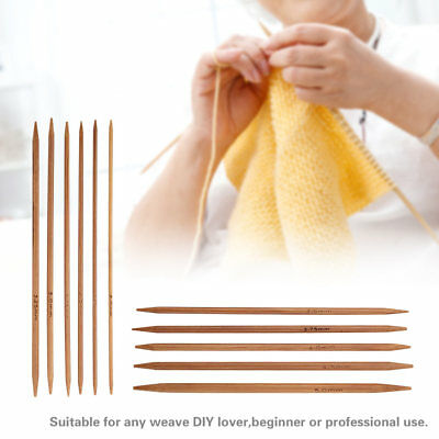 55pcs/Set 11 Sizes Bamboo Double Pointed Knitting Needles DIY Knit Sweater Glove