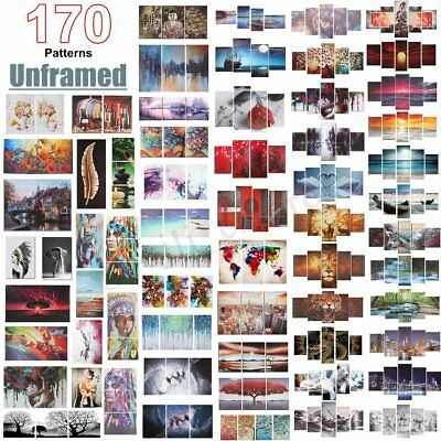 1/2/3/4/5PCS Modern Art Paintings Canvas Print Wall Unframed Pictures Home Decor