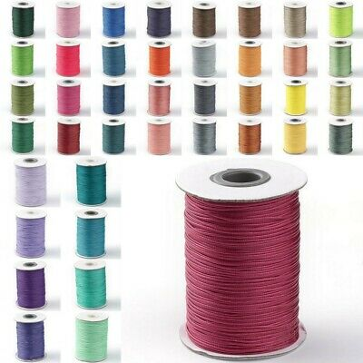 61 Colors! 93Yard/Roll 1mm Korean Waxed Polyester Cord String Thread Beading