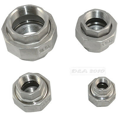 """1/4"""" -2"""" Malleable Straight Union Female to Female Coulping Pipe Fitting SS 304"""