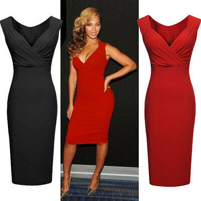 fashion Women lady Business Office Work Swing Cocktail Evening Party Wrap Dress