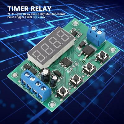 YF-11 Cycle Delay Time Relay Multifunctional Pulse Trigger Timer Module DC 7-24V