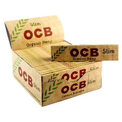 Genuine OCB ORGANIC HEMP Natural King Size Slim Rolling Papers