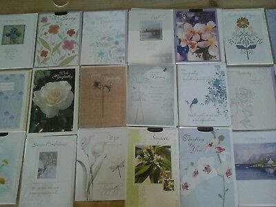 25 Sympathy Cards, Wholesale Joblot Greeting Cards