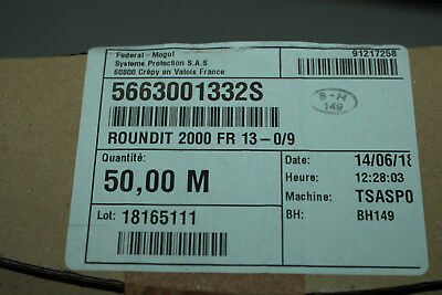 Federal Mogul 5663001332S  Roundit 2000 Fr 13-0/9 Flame Resistant Cable Wrap