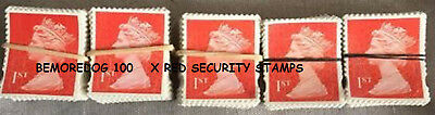 100 1st class security stamps unfranked off paper GOOD CONDITION, FREE POST