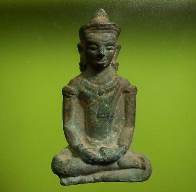 Perfect! Old Thai Buddha Amulet Statue Phra Lopburi Over 500 Years