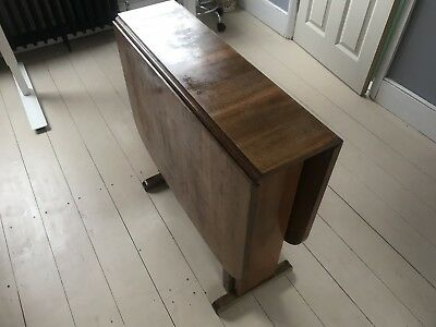 antique,small,mahogany(?),drop leaf,rectangular,dining table
