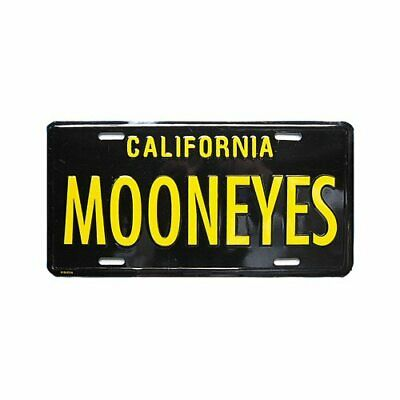 MOONEYES Kennzeichen Californien schwarz license plate vintage style beach surf