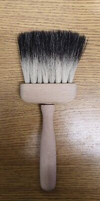 "3"" PURE BRISTLE BADGER BRUSH for softening and blending"