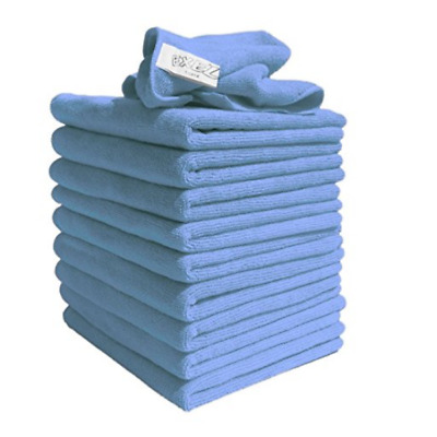 Microfibre Exel Magic Cleaning Cloths Lint Free Dusters 10 Pack Blue