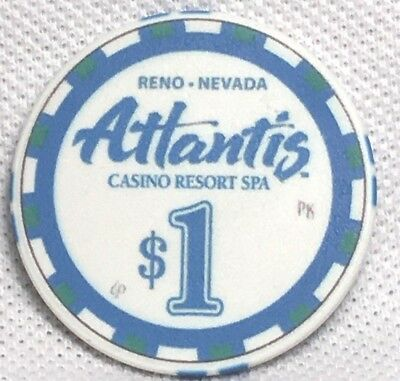 Atlantis Casino, Reno Nv, $1 Chip, 2014, Uncirculated D1639