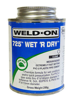 250g Weld-On 725 Solvent Glue - Pond Pipe Cement, Quick Drying Adhesive, Koi